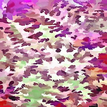 Foliage Abstract Pop Art In Ultra Violet and Fuchsia Pink by taiche