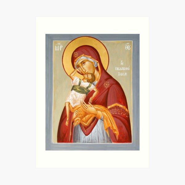 Theotokos Pelagonitisa Art Print