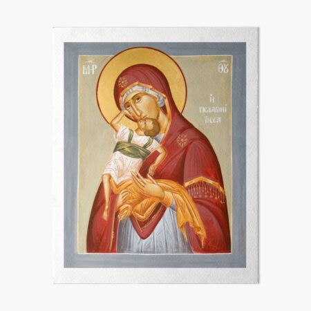 Theotokos Pelagonitisa Art Board Print