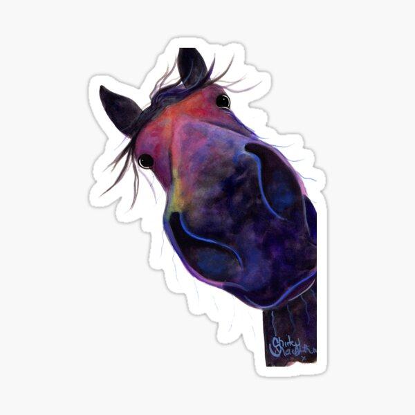 HORSE PRiNT 'SLOE GIN GERRY' BY SHiRLeY MacARTHuR Sticker