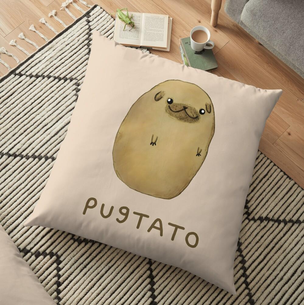 Pugtato Floor Pillow