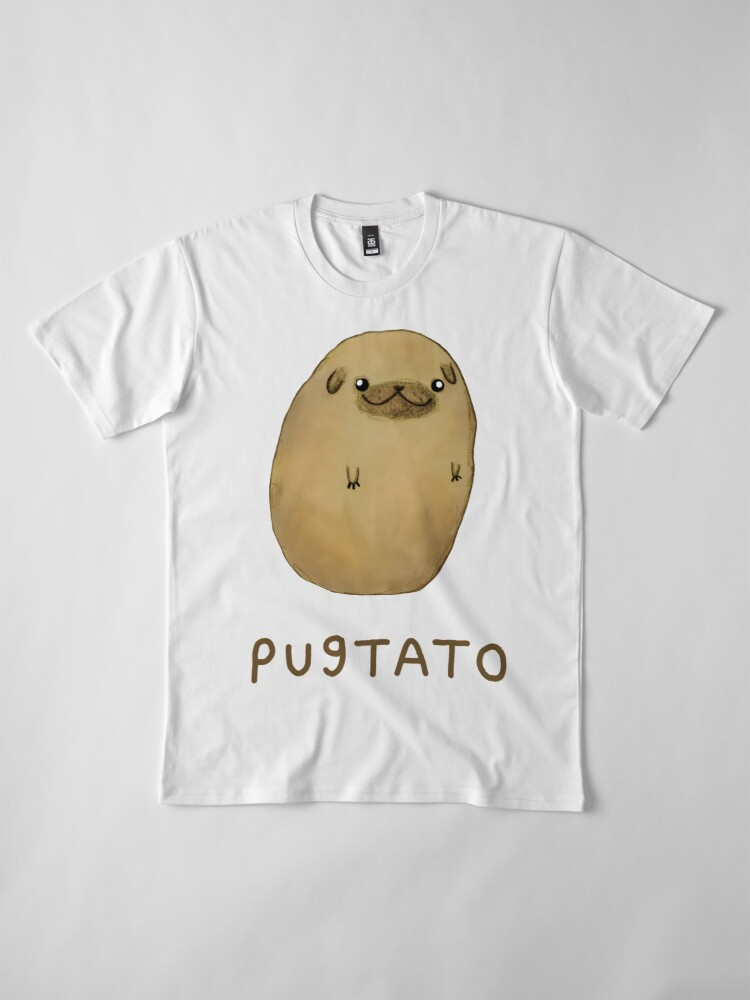 Vista alternativa de Camiseta premium Pugtato