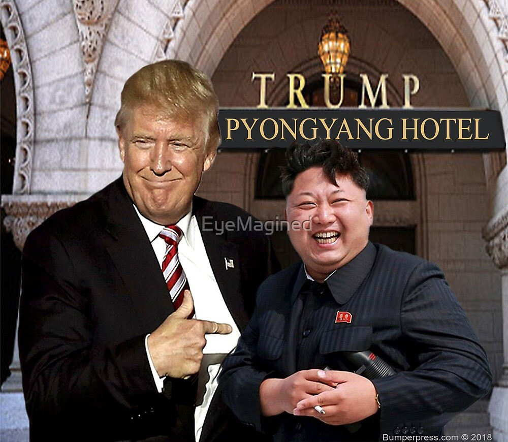 Trump Meets Kim Jong Un by EyeMagined