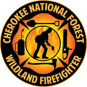 Cherokee National Forest Wildland Firefighter by ginkgotees