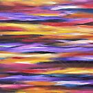 Purple Waves | Abstract Painting by Maria Meester
