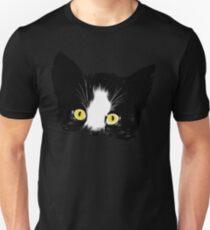 Black and White Kitten Face Unisex T-Shirt