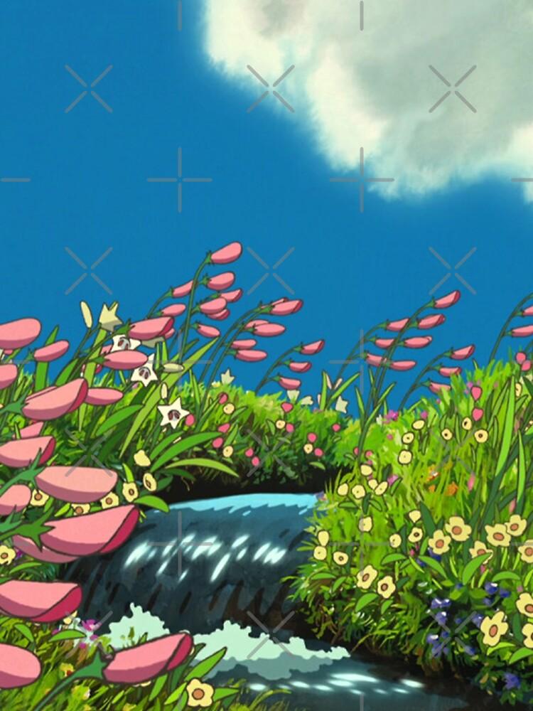 Ghibli Landscape (Howl's moving castle) by pompomcherryy