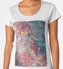 flower greeting card wallpaper Women's Premium T-Shirt