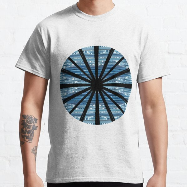 Blue wave, chaotic structures, elongating horizontally, structure, pattern Classic T-Shirt