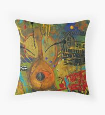 Country Songs Playing in the Background Throw Pillow