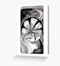 Outflow, Ink Drawing Greeting Card