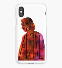 """""""You're Not Alone."""" Rey - Kylo (transparent) iPhone Case"""