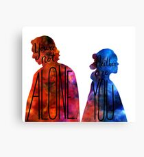 """You're Not Alone."" Rey - Kylo (transparent) Canvas Print"