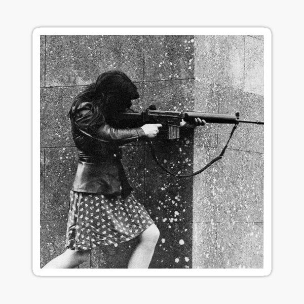 Female IRA fighter Sticker