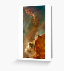 Abstract Space Art  Greeting Card