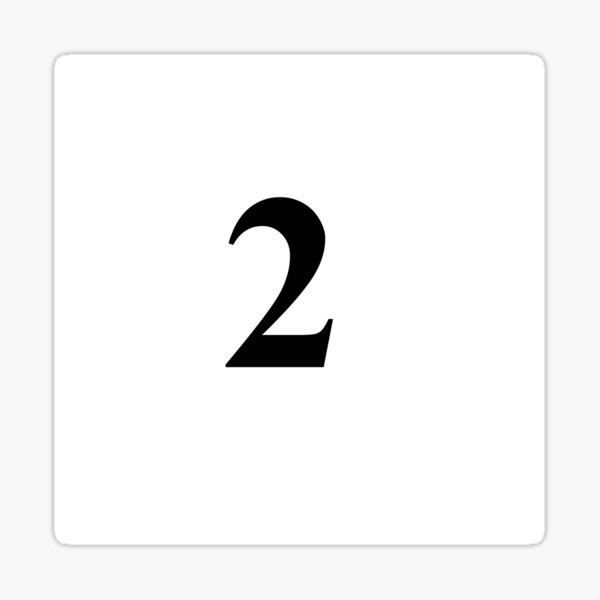 Two, the second, twain, couple, pair, two, match, twosome, #Two, #second, #twain, #couple, #pair, #match, #twosome Sticker