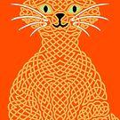 « Chat en entrelacs - jaune » par Hippopottermiss