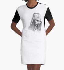 Johnny Depp Captain Jack Sparrow  Graphic T-Shirt Dress