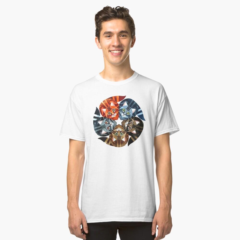 Gatos guerreros Camiseta clásica