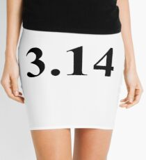 3.14, pi Mini Skirt