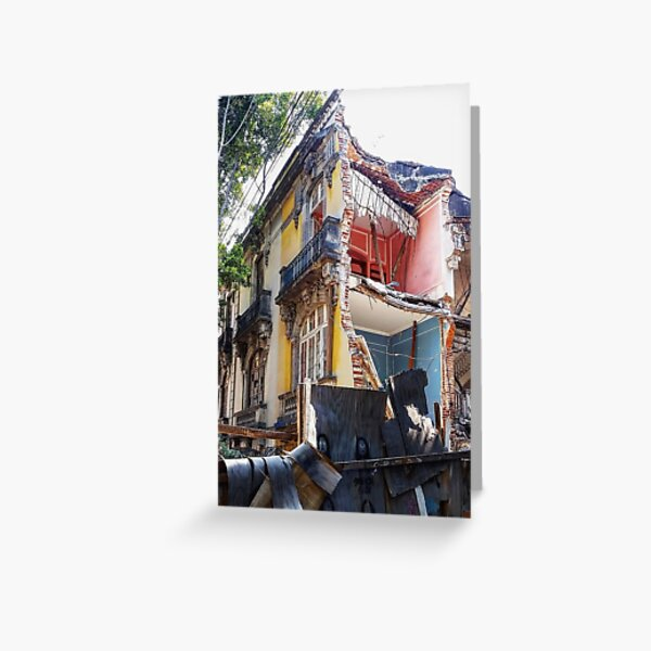 Mexico City house demolition Greeting Card
