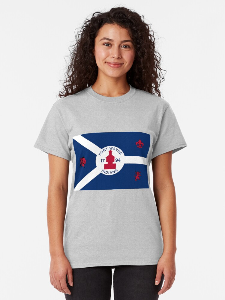 Alternate view of Flag of Fort Wayne, Indiana Classic T-Shirt