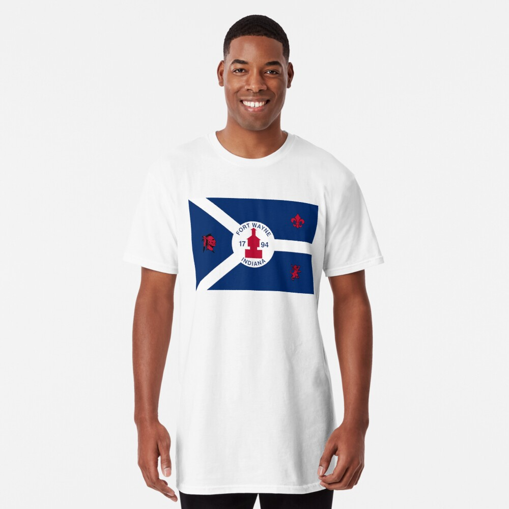 Flag of Fort Wayne, Indiana Long T-Shirt