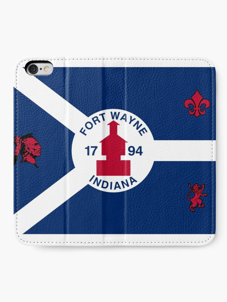 Alternate view of Flag of Fort Wayne, Indiana iPhone Wallet