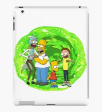 Rick and Morty X The Simpsons iPad Case/Skin
