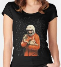 LAIKA / GAGARIN - SOVIET SPACE HEROES Women's Fitted Scoop T-Shirt