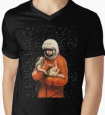 LAIKA / GAGARIN - SOVIET SPACE HEROES Men's V-Neck T-Shirt