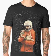 Camiseta premium para hombre LAIKA / GAGARIN - HEROES ESPACIALES SOVIÉTICOS