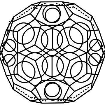 Buckminsterfullerene Chemical Molecule Structure by Girih