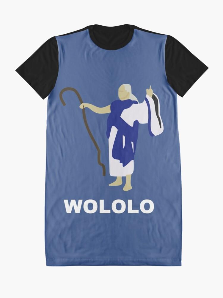 Alternative Ansicht von Wololo (blau) T-Shirt Kleid