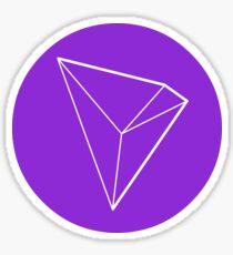 TRON TRX Crypto Currency Icon - Purple Sticker