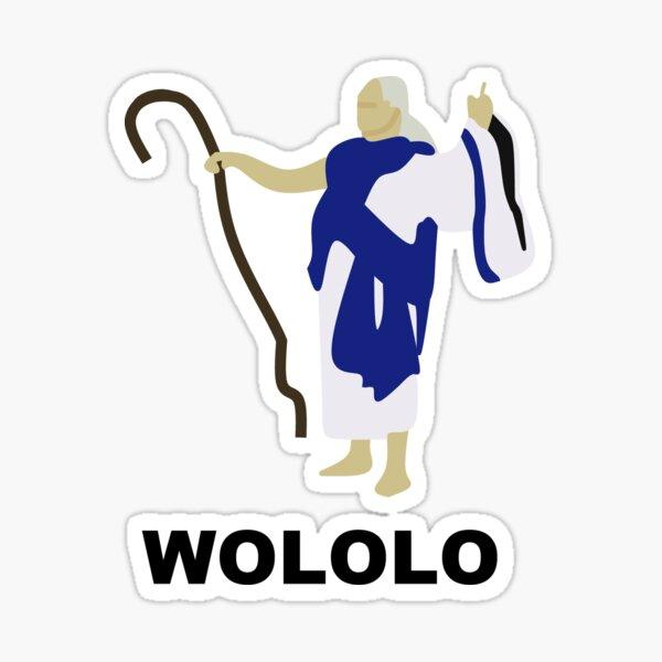 Wololo (Blue) Sticker