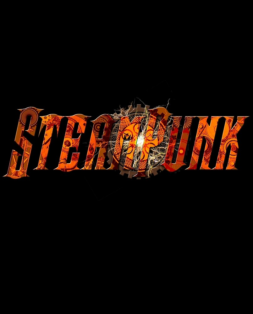 Steampunk gearwork text by ray 6volt