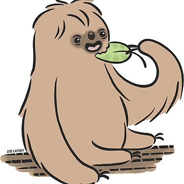 Sloth Eating a Yummy Leaf  by zoel