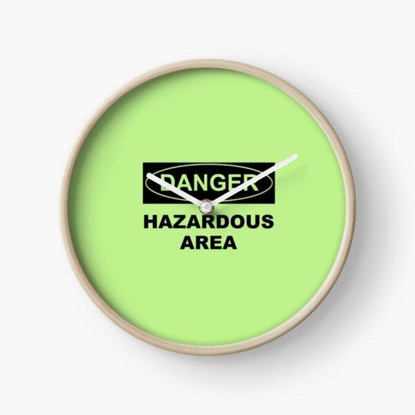 Danger, Hazardous Ares Clock