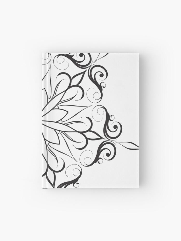 simple mandala line art   Hardcover Journal