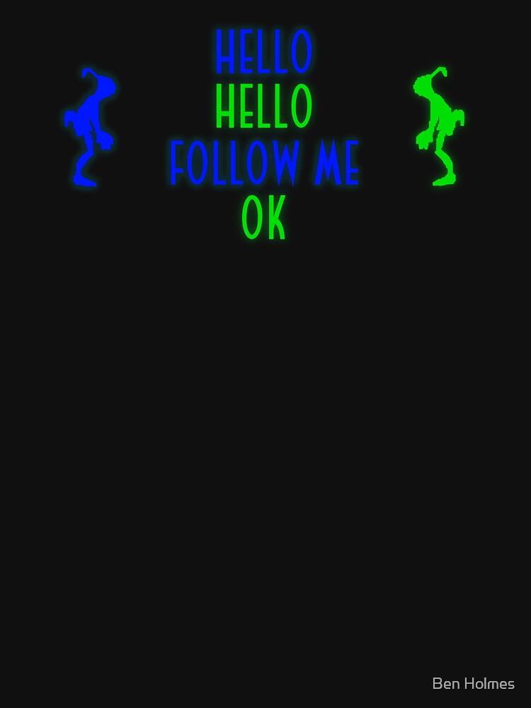 Abe's Hello (Blue & Green Retro) | Unisex T-Shirt