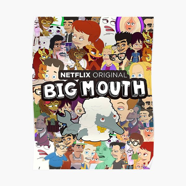 Big Mouth Collage Poster