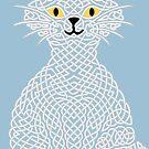 « Chat en entrelacs - Bleu » par Hippopottermiss