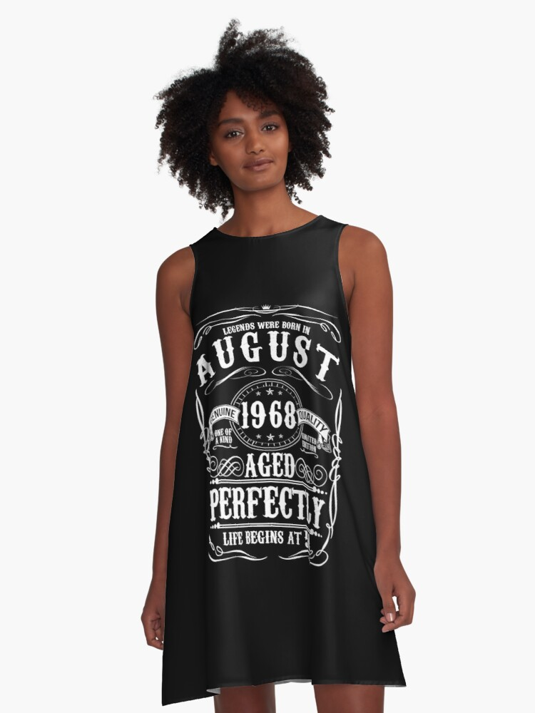 Funny August 1968 50th Birthday Party Apparel A Line Dress Front