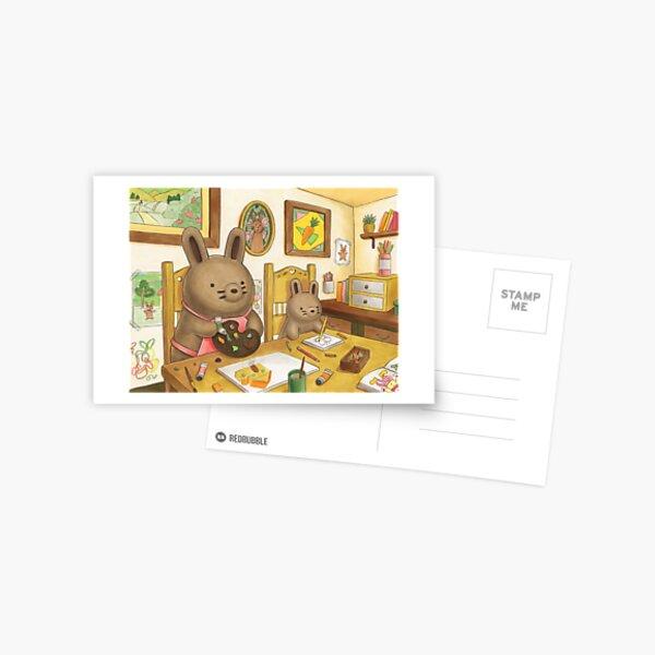 Artsy Bun Buns Postcard