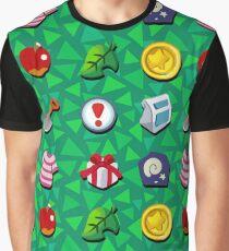 Camiseta gráfica Cruce de animales: bolsillos llenos