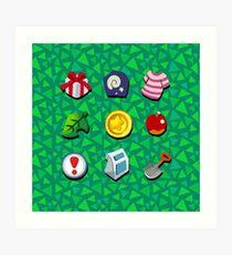 Animal Crossing- Full Pockets Art Print