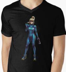 Zero Suit Samus 2014 Men's V-Neck T-Shirt