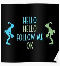 Oddworld Abe's Oddysee Hello (Blue & Green) Poster