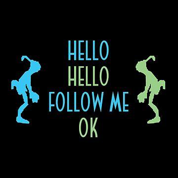 Oddworld Abe's Oddysee Hello (Blue & Green) by Benholmes